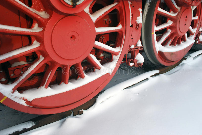 Download Steam engine wheels stock photo. Image of wheels, winter - 12487910