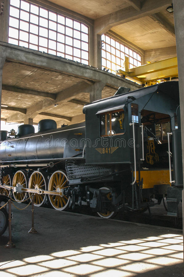Steam engines. Old steam engines in the railway industry in Temuco Chile royalty free stock photography