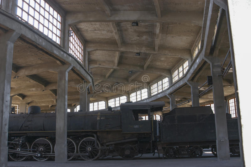 Steam engines. Old steam engines in the railway industry in Temuco Chile stock photography