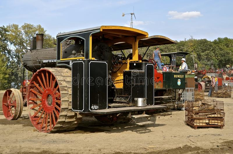Steam engines at Rollag farm show stock images