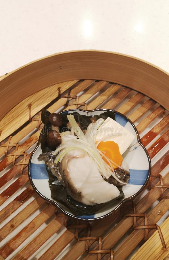 Steam fish with soy source - image. Steam, asian cuisine stock photos