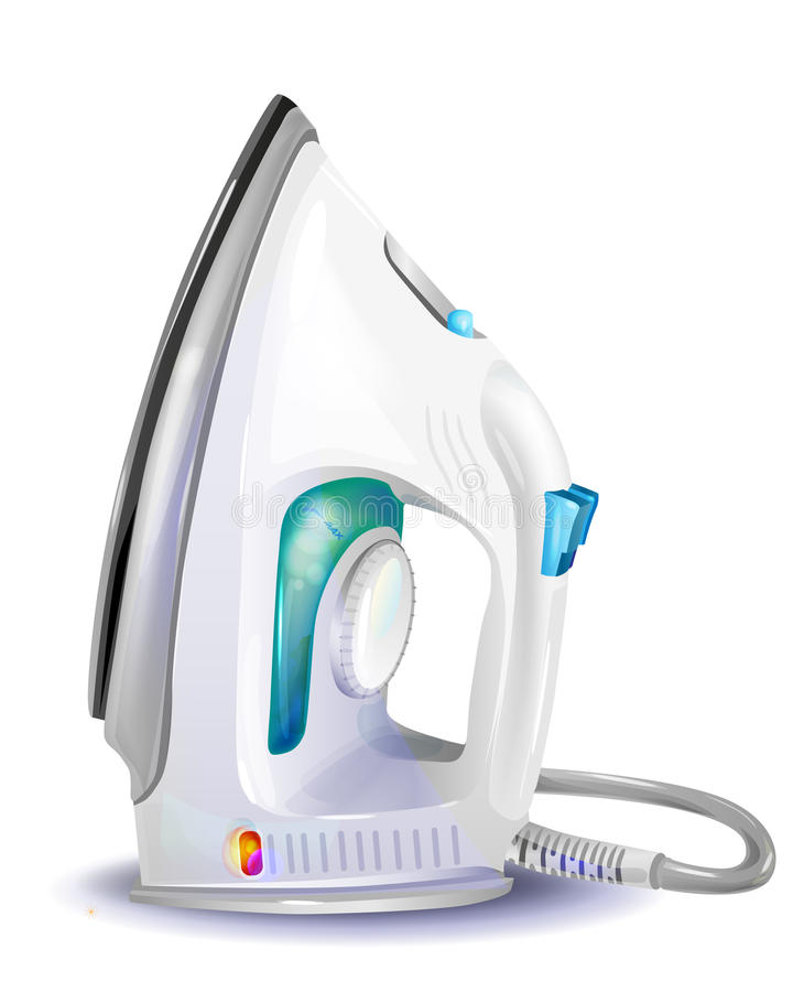 Download Steam iron stock vector. Image of domestic, ironing, housework - 29085047