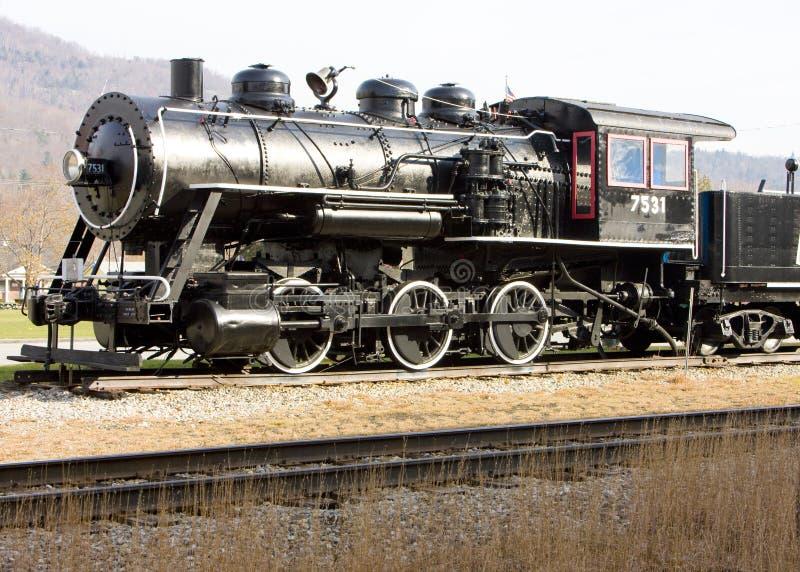 Steam locomotive. In Railroad Museum, Gorham, New Hampshire, USA stock photography