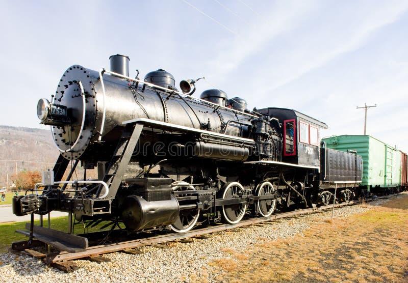 Steam locomotive. In Railroad Museum, Gorham, New Hampshire, USA royalty free stock photos