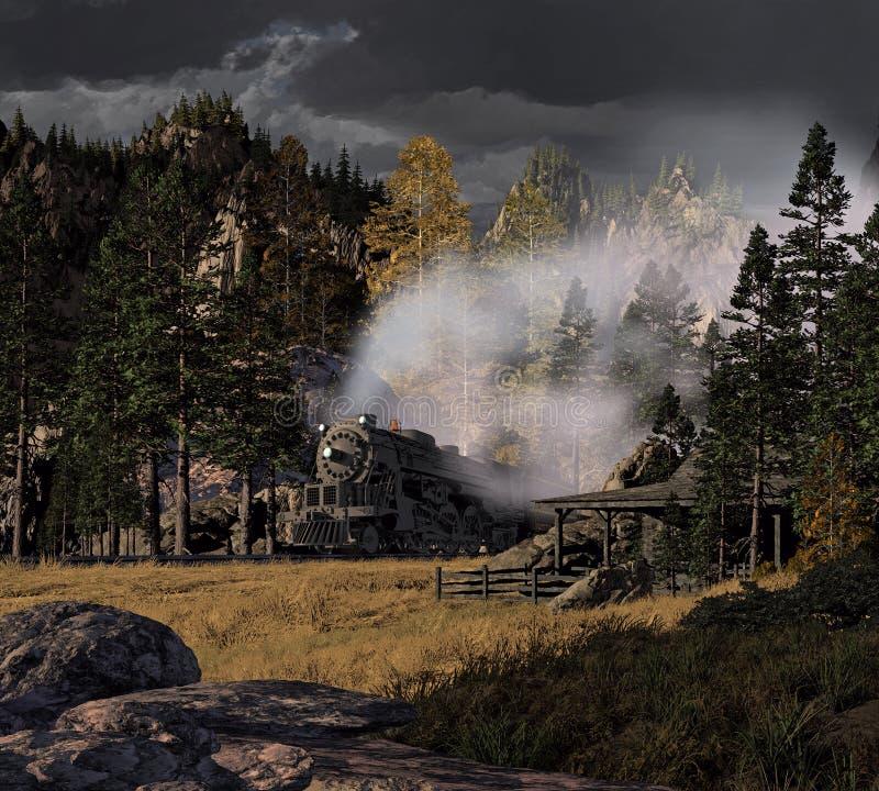 Download Steam Locomotive stock illustration. Image of canyon - 15339302
