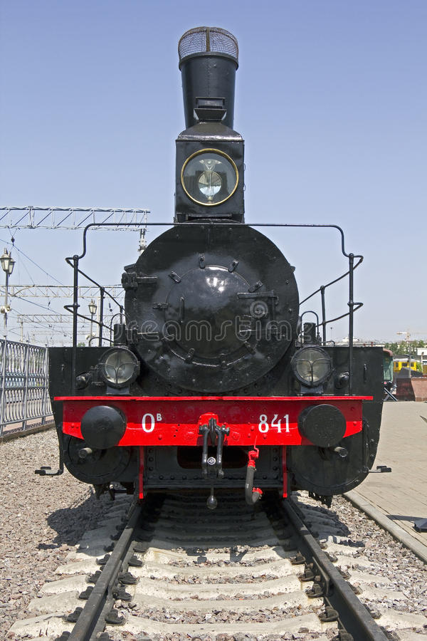 Steam locomotive 2. Russian steam locomotive. O series. Railroad museum in Moscow stock image