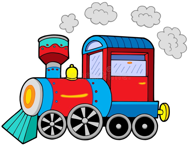 Steam locomotive vector illustration