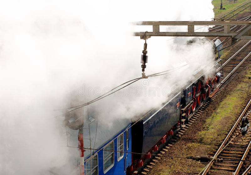 Steam Locomotive  Albatros In Motion Editorial Photo