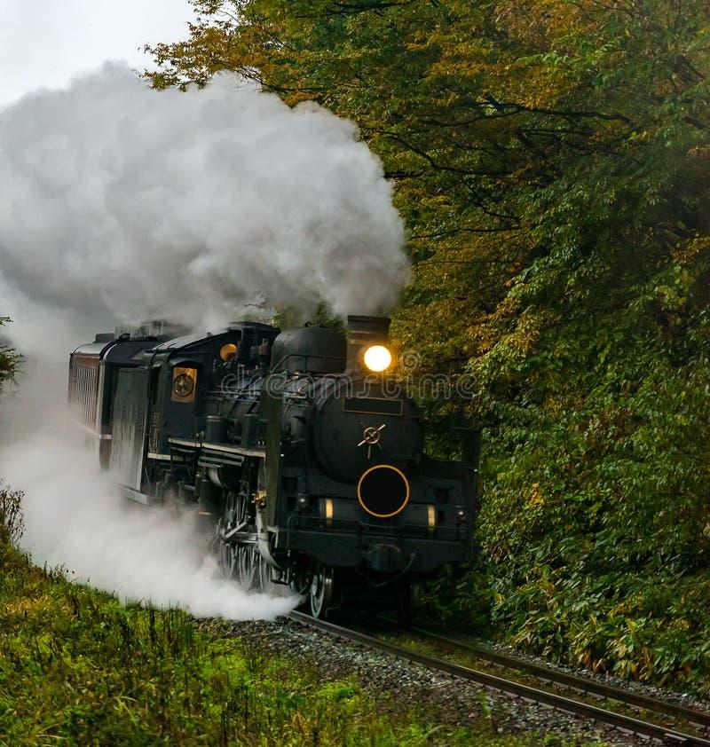 Steam locomotive Fukushima Japan stock images