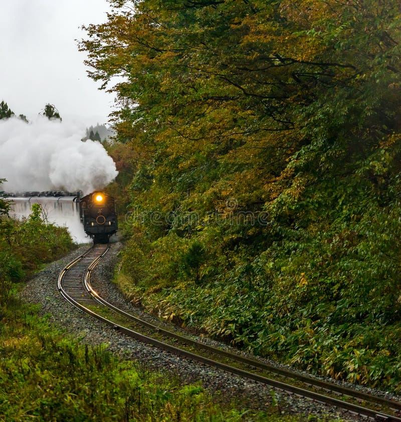 Steam locomotive Fukushima Japan royalty free stock photos