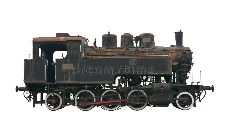 Steam locomotive cutout stock photo
