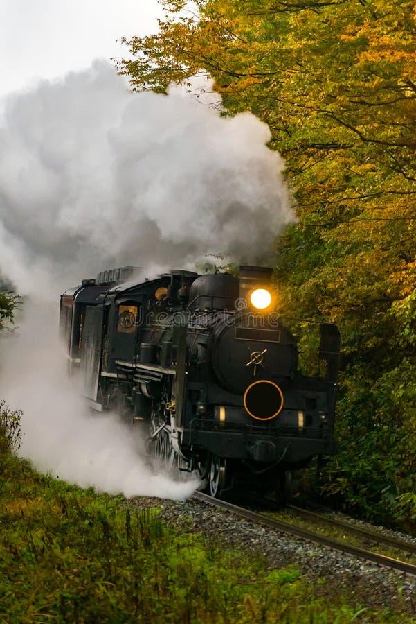 Steam locomotive Fukushima Japan stock image
