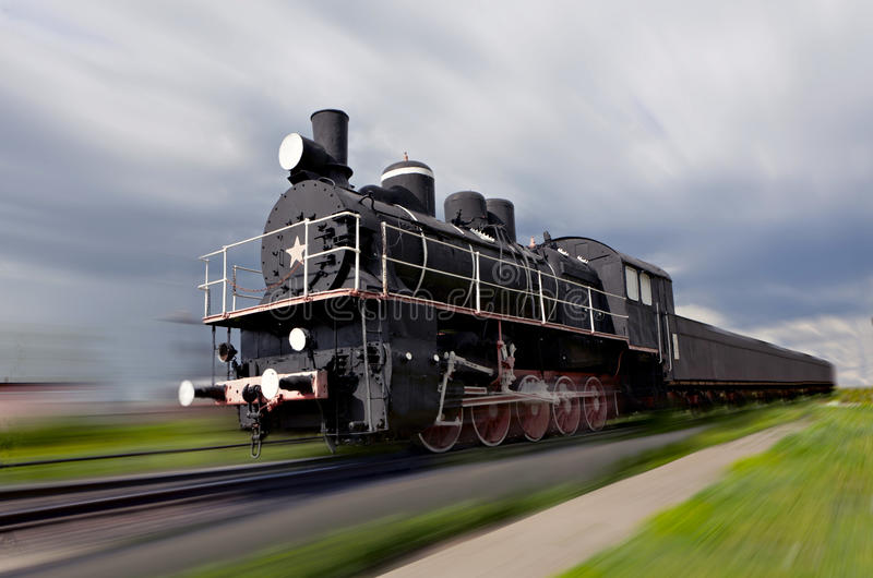 Download Steam locomotive in motion stock image. Image of motion - 19961789