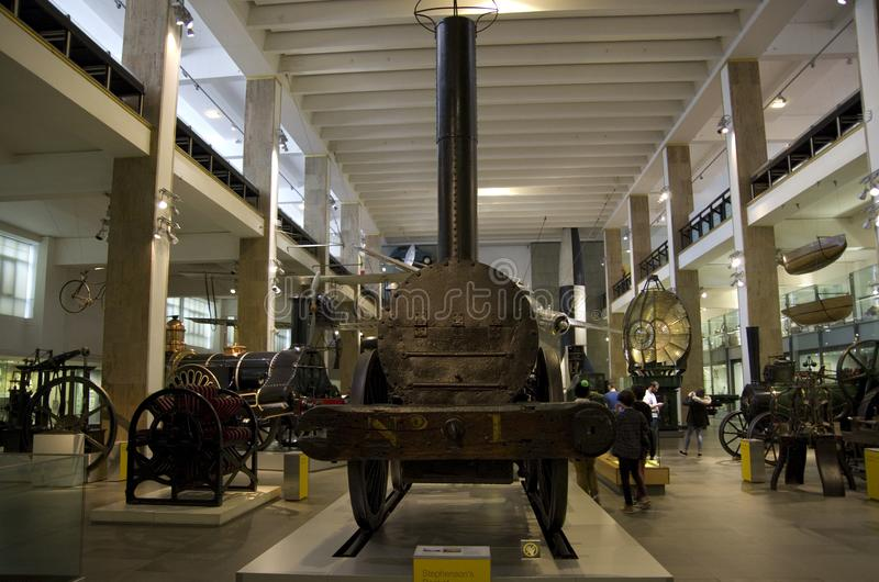 Steam locomotive, Science Museum London stock photo
