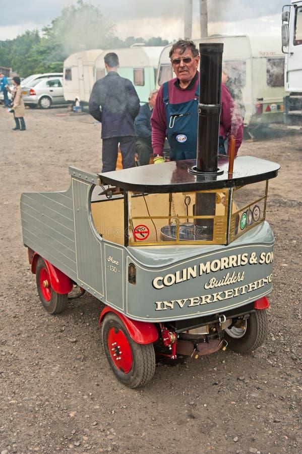 Steam lorry displayed at Boat of Garten.