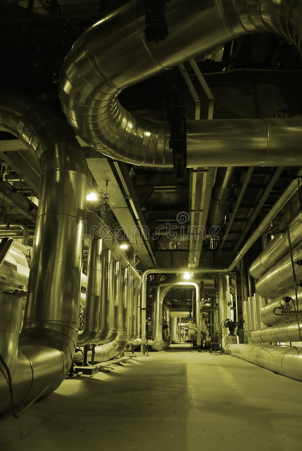 Steam Pipes royalty free stock photo