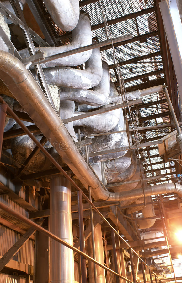 Steam Pipes royalty free stock images