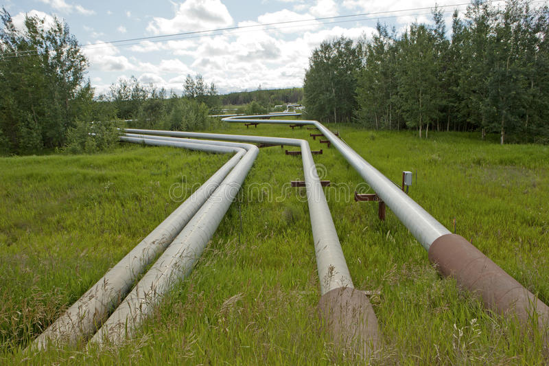 Steam pipes, Alberta stock images