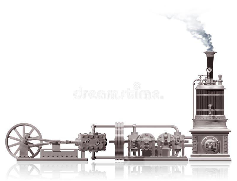 Steam plant motif stock illustration