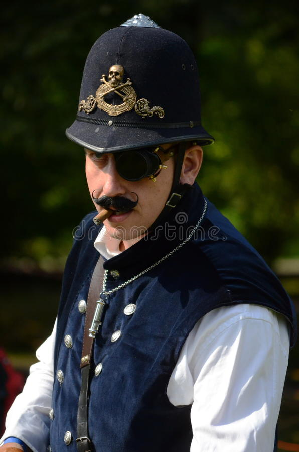 Download Steam Punk Cop editorial stock photo. Image of mustache - 26844018