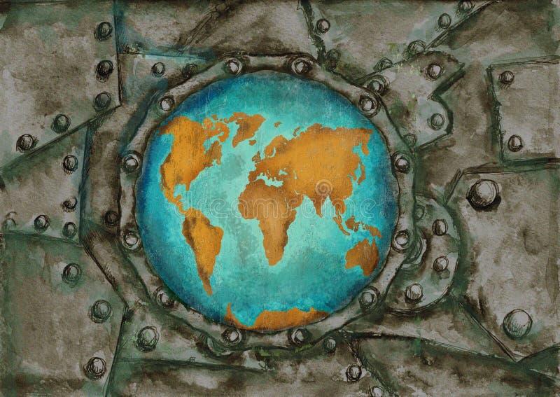 Steam punk grunge world map stock illustration illustration of download steam punk grunge world map stock illustration illustration of geography background 79564051 gumiabroncs Gallery