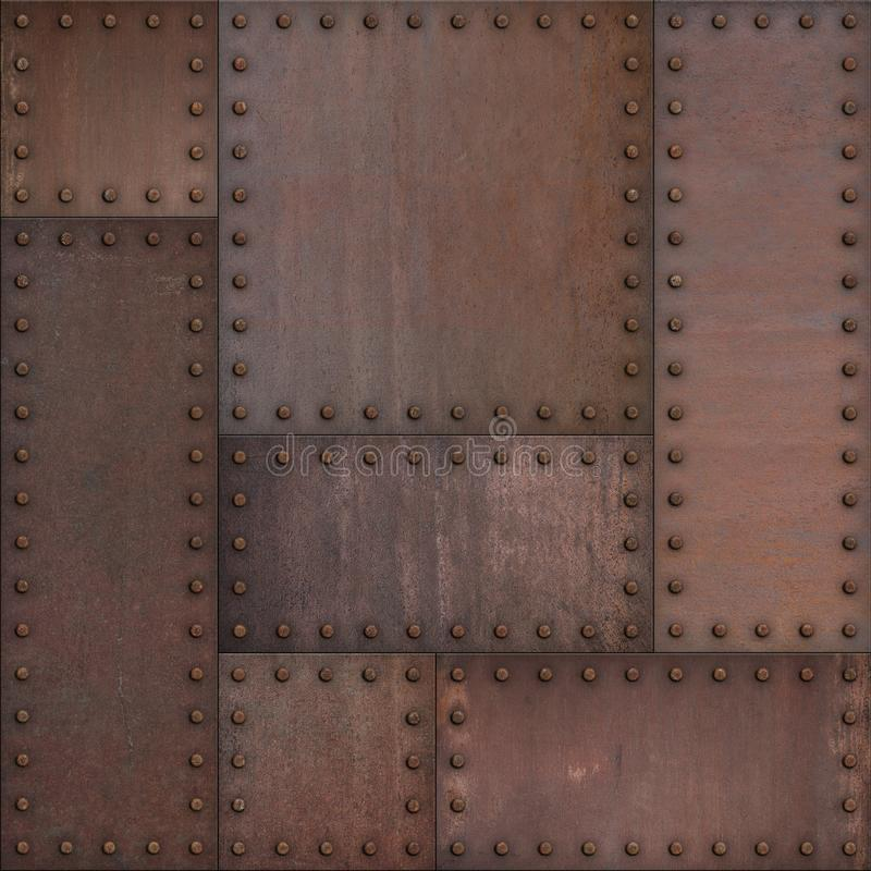 Free Steam Punk Or Steampunk Rusty Armor Metal Background. Mixed Media. Royalty Free Stock Photos - 166074738
