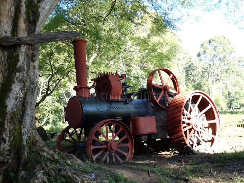 Steam Tractor. On a farm in Zambia stock image