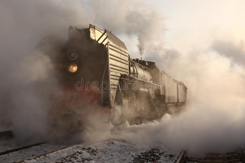 Steam Train. The last steam train in inner Mongolia royalty free stock image