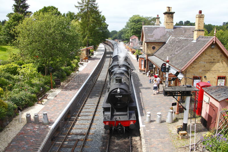 Steam train at Arley station royalty free stock images