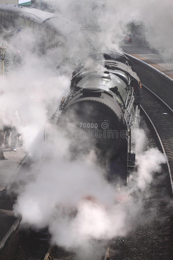 Free Steam Train At Station 3 Royalty Free Stock Photos - 24535598