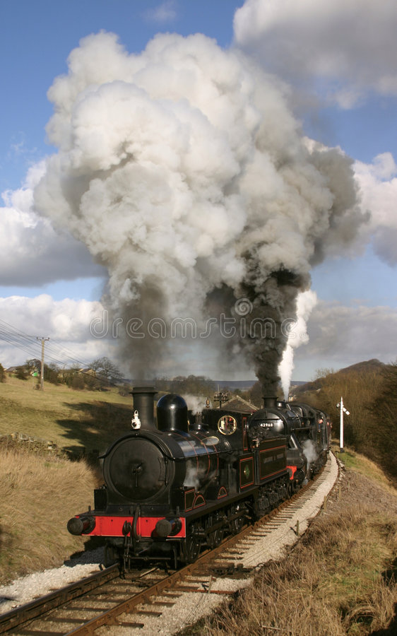 Download Steam Train In Bronte Country Stock Image - Image of yorkshire, track: 599509