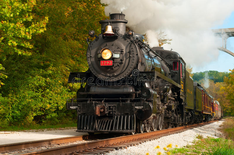Download Steam train close editorial image. Image of green, locomotive - 26880820