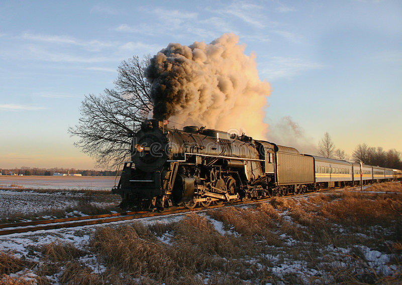 Steam train in countryside royalty free stock photos
