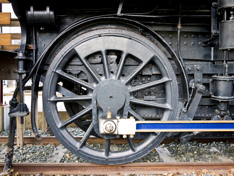 Steam Train Drive Wheel Detail royalty free stock photo