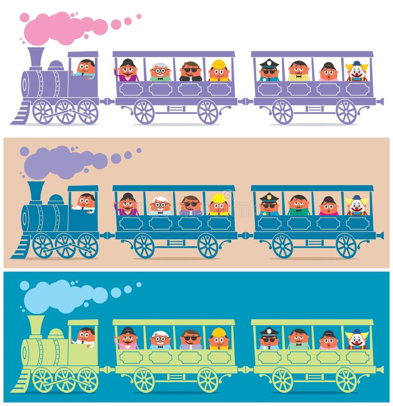 Steam Train Driver vector illustration