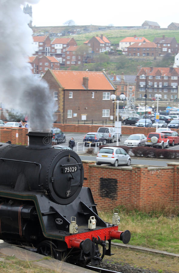 Steam Train Leaving Whitby, North Yorkshire. Editorial Photo