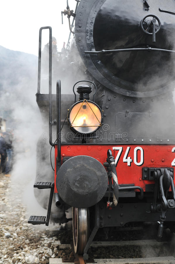 Free Steam Train On Railroad Royalty Free Stock Images - 12303049
