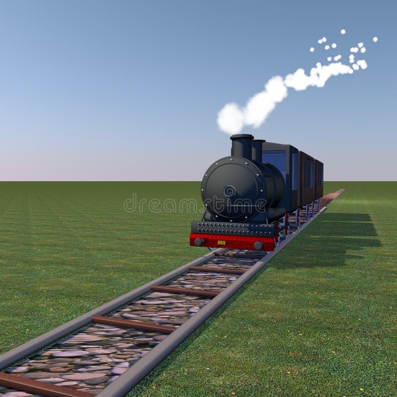 Steam train royalty free illustration