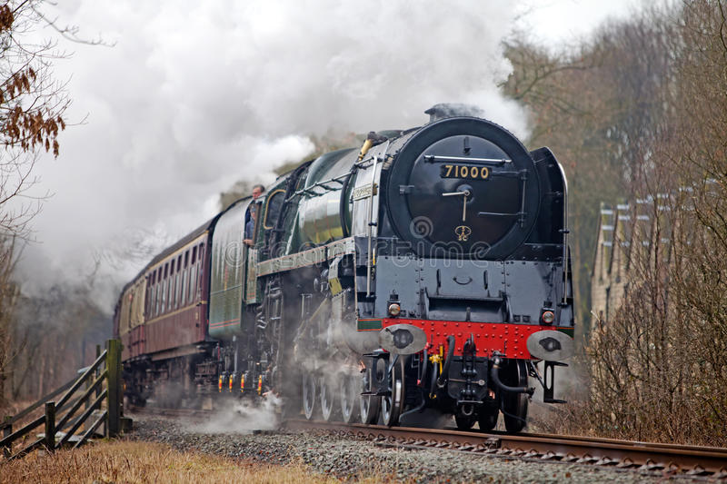 Steam train at speed
