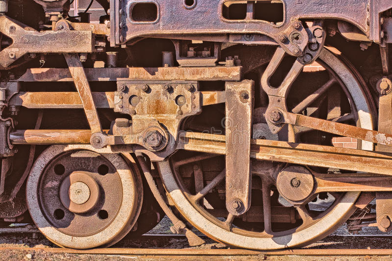 Steam Engine Wheel Driving : Steam train wheels stock photography image