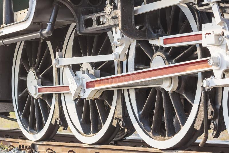 Steam train, wheels. stock photography