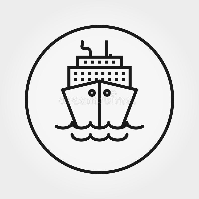 steamboat cruise Ic?ne universelle Vecteur Ligne mince illustration libre de droits