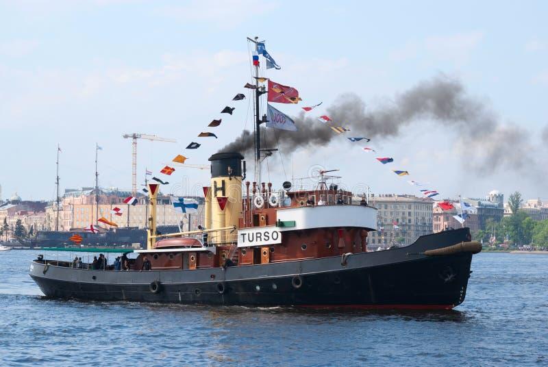 Steamboat do vintage de Turso imagem de stock royalty free