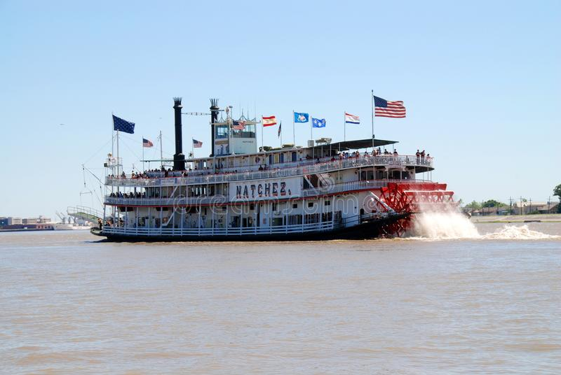 Steamboat Natchez in New Orleans stock image