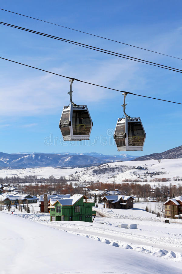 Steamboat Springs Colorado arkivbilder