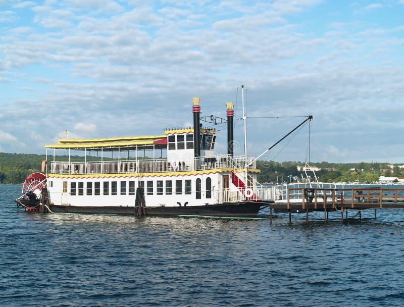 Steamboat sul lago di canandaigua, New York fotografia stock