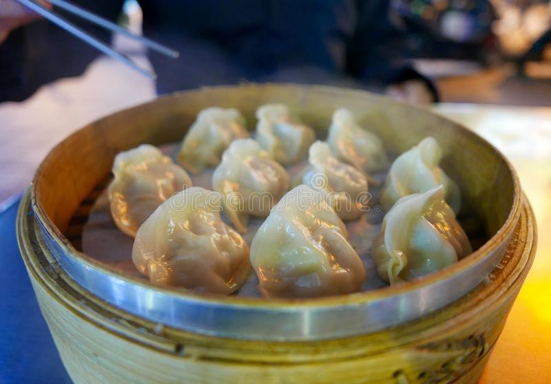 Steamed dim sum stock photography