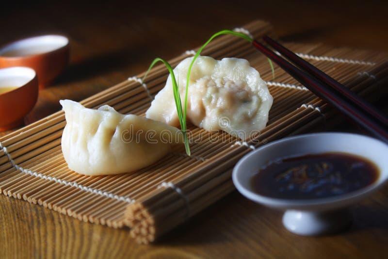 Steamed dumpling royalty free stock photo