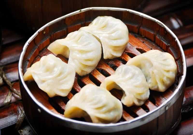 Steamed dumplings royalty free stock photos