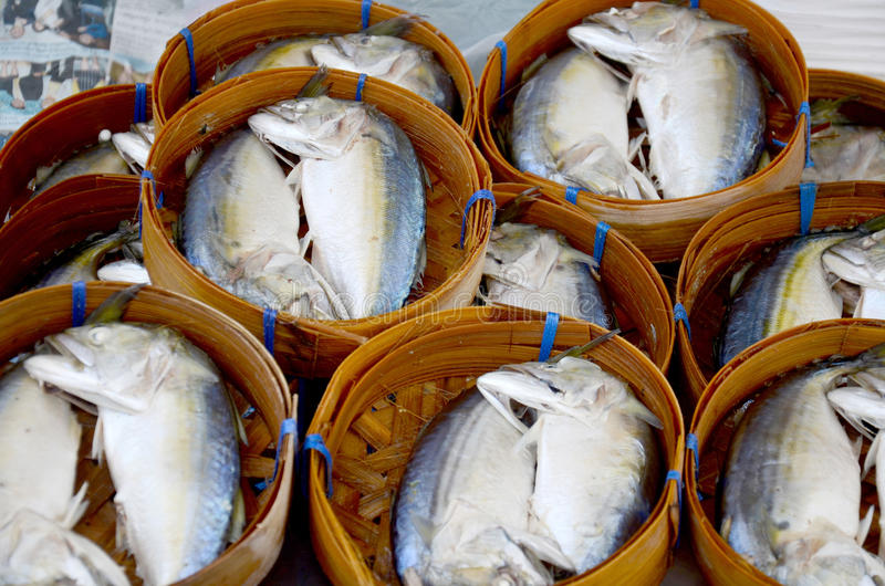 Steamed fish tuna royalty free stock photography
